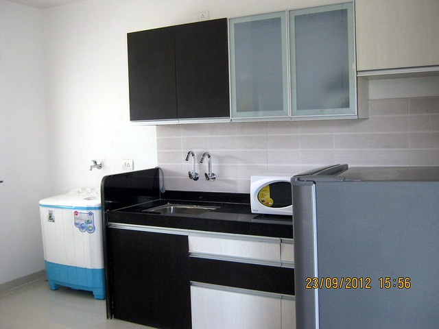 Kitchen with dry balcony - show flat of Pristine City, 20 Acre Township of 1 BHK & 2 BHK Flats at Bakori - Wagholi, Pune 412 207