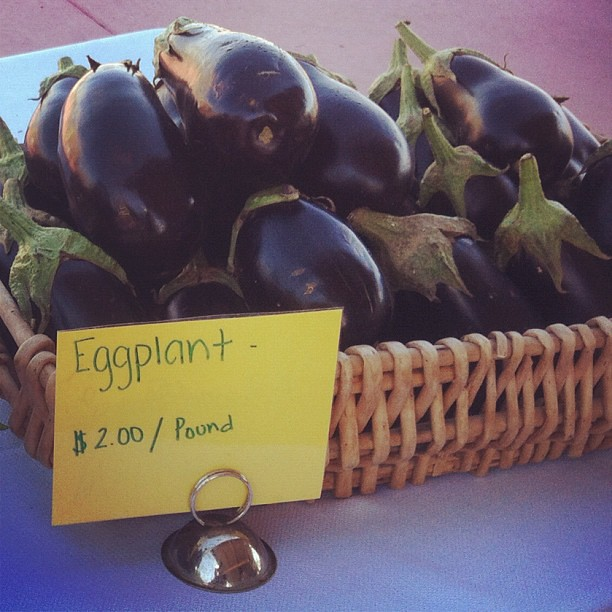 Local eggplant at the #farmersmarket