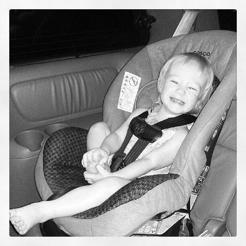 Riding in Aurora's carseat is SUPER EXCITING.