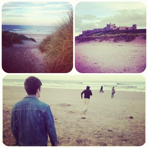 bamburgh beach bamburgh castle