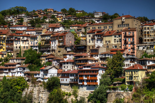 old bridge houses architecture river bed capital stefan bulgaria tarnovo tsarevets kolio veliko ficheto stambolov