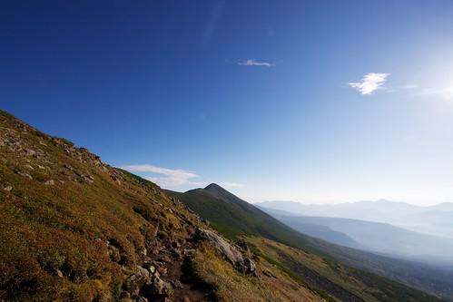 オプタテシケ山へと続く稜線