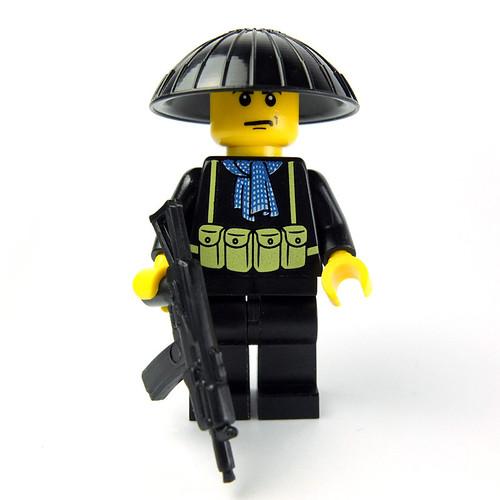 Custom Lego Minifig Vietcong by La Petite Brique