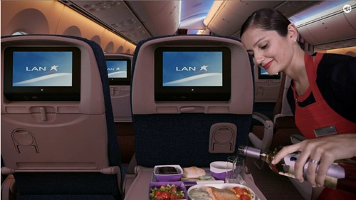 LAN Business Class Meal Service