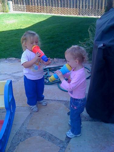 Twin Cousins sing a duet