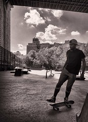 Skating - Coleman Playground - Under the Manhattan Bridge
