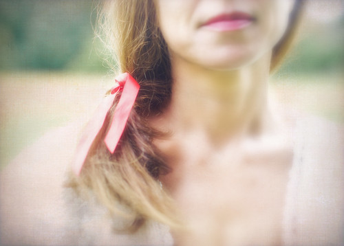 just a red ribbon