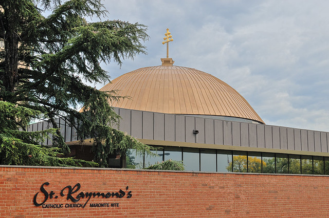Saint Raymond Maronite Cathedral, in Saint Louis, Missouri, USA - exterior