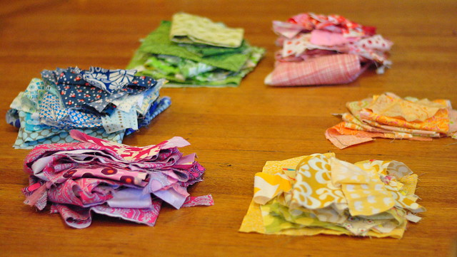 Organizing Fabric Scraps By Color