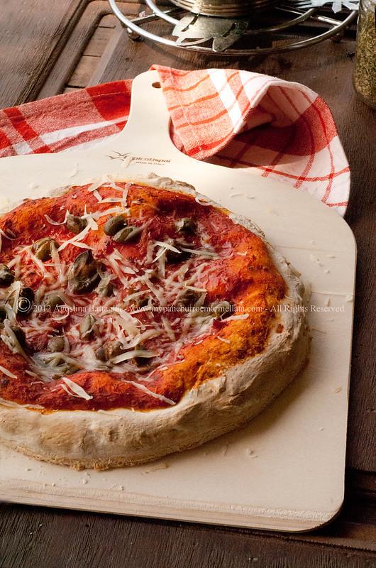pizza liquido di governo mozzarella