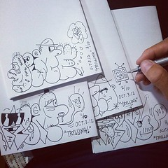 TRYLLING zine, back covers.. #remio #sleepner #drawing http://remio.bigcartel.com