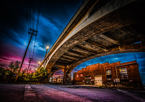 bridge sunset nathan walnut va hdr firebaugh roanok