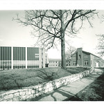 Law Center addition and original section, the University of Iowa, 1960s