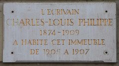 Photo of Charles-Louis Philippe white plaque