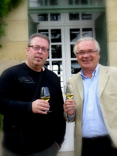 Olivier Casteja and me ! he is the owner of Chateau Doisy Vedrines , 2ieme grand cru classe in Sauternes