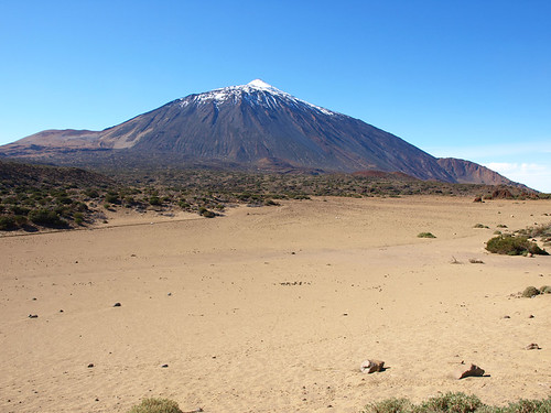 Light snow on Mount Teide, Tenerife