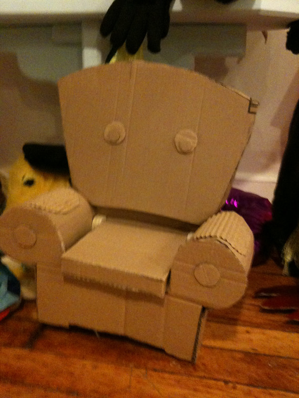 Cardboard Chair Puppet
