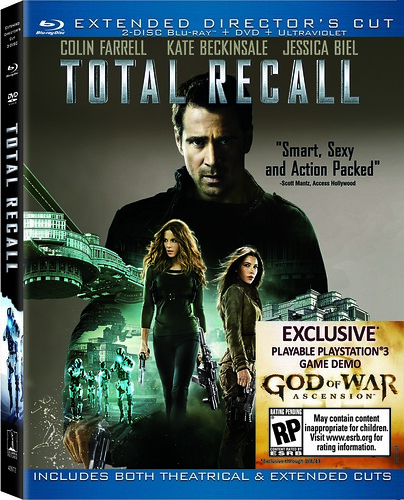 Total Recall: Blu-Ray cover