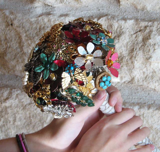 Petite Brooch Bridal Bouquet