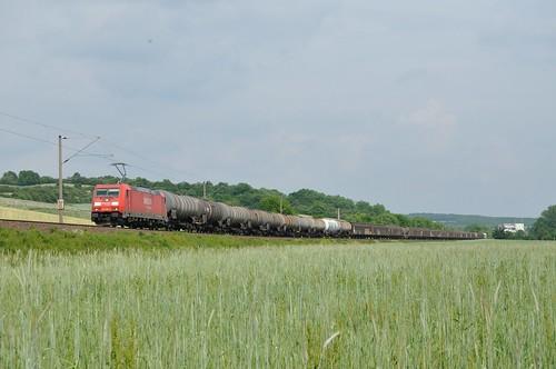 DBS 185 286 met Unit Cargo, Gänheim, 31-05-2012