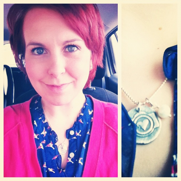 Still can't get over the cute necklace all the attendees received at the #iheartfaces conference - it is perfect!