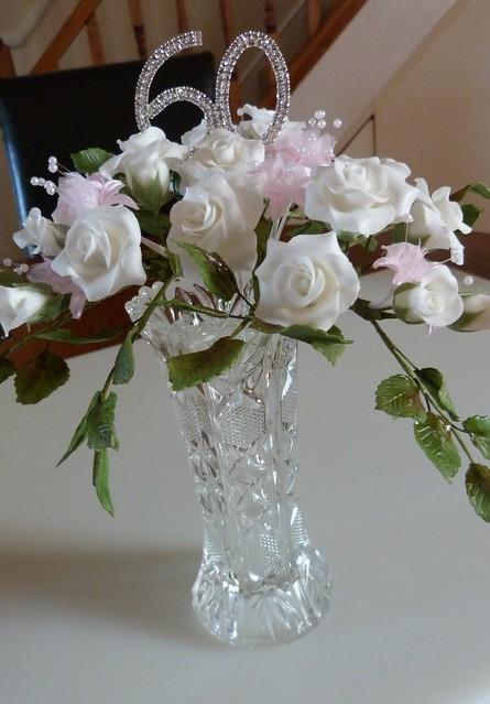 60th anniversary sugar flowers 039 flickr photo sharing for 60th wedding anniversary decoration ideas