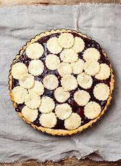 almond tart with cherry.
