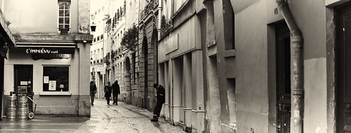 The alley in Paris.