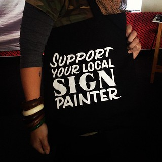 Yeah! Thanks @faythelevine for the sign painter swag! Also: thanks for the incredible lecture this morning too! #dwpdx #psugd #fogd