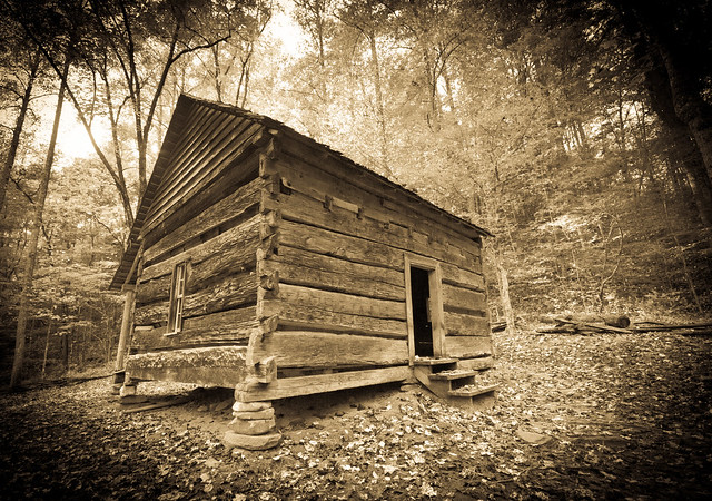 Old Cabin (antiqued)