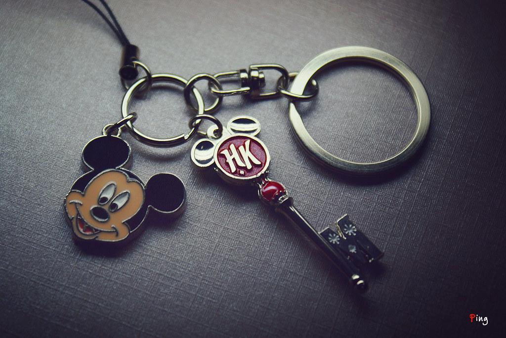 HK Disneyland Souvenir Keychain