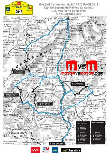 Mapa III Rallye Comunidad de Madrid 2012