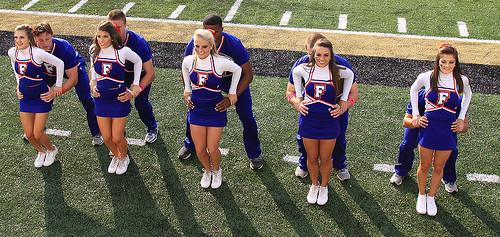 University Of Florida Cheerleaders by Paul Robbins - BNA-Photo