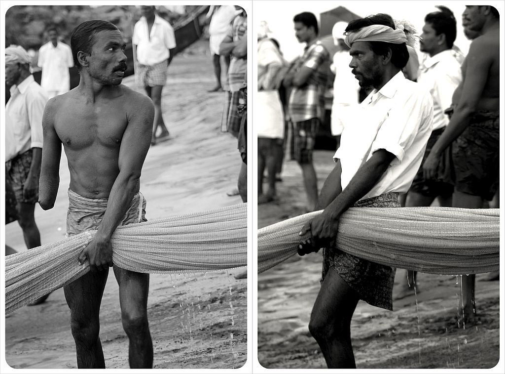 fishermen in kovalam india