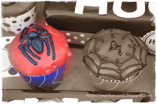 wrappers cupcakes. Kit de fiesta spiderman. Merbo events