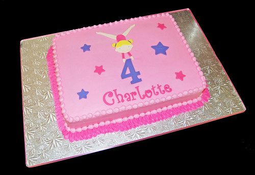 4th birthday gymnastics themed birthday cake