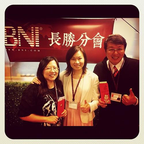 BNI長勝分會:八分鐘分享後得獎者,生命之光Lily老師,房仲達人林柏均 by bangdoll@flickr