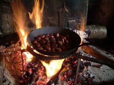 asando castañas
