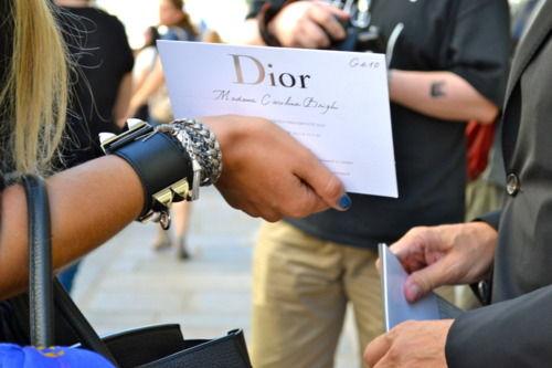 Dior invitacion