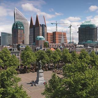 Moderna arquitectura en el centro de La Haya.