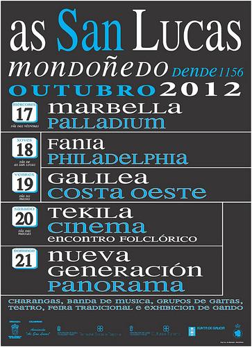 Mondoñedo 2012 - As San Lucas - programa