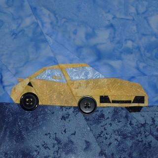 BD2Quilt_Yellow Porsche_hardhatcat