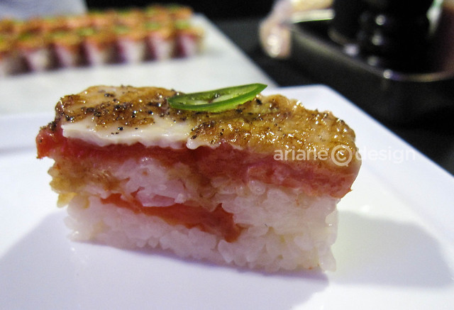 Minami's Aburi salmon oshi sushi