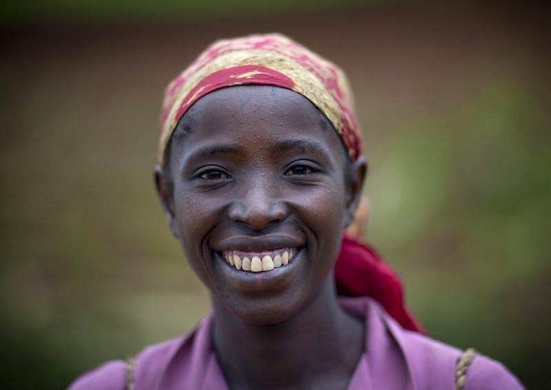 Ethiopian woman smiling, Ethiopia