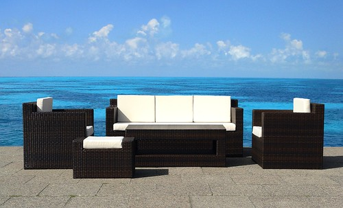 resin wicker outdoor patio furniture set