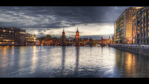bridge berlin clouds heaven sonnenuntergang himmel wolken spree friedrichshain hdr oberbaumbrücke kreuzber