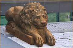 carving, art, ancient history, chainsaw carving, lion, temple, sculpture, statue,