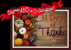 31 Days of Thanks Giveaways