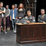 Michael Levesque, Tom Hamlett, Evan Murphy, Amy Jo Jackson, Alessandra Vaganek, Gus Curry, and Joshua Pemberton appearing in the SpeakEasy Stage Company production of Bloody Bloody Andrew Jackson, running Oct. 19 - Nov. 17 at the Stanford Calderwood Pavilion at the Boston Center for the Arts, 527 Tremont Street in Boston's South End. Tix/Info: 617-933-8600 or www.SpeakEasyStage.com. Photo: Craig Bailey / Perspective Photo