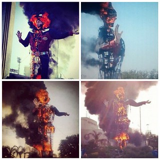 Big tex gives life for art. #bigtex #fire